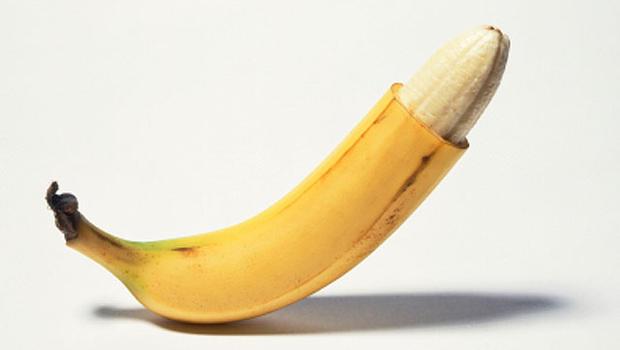 Банан со снятой кожурой