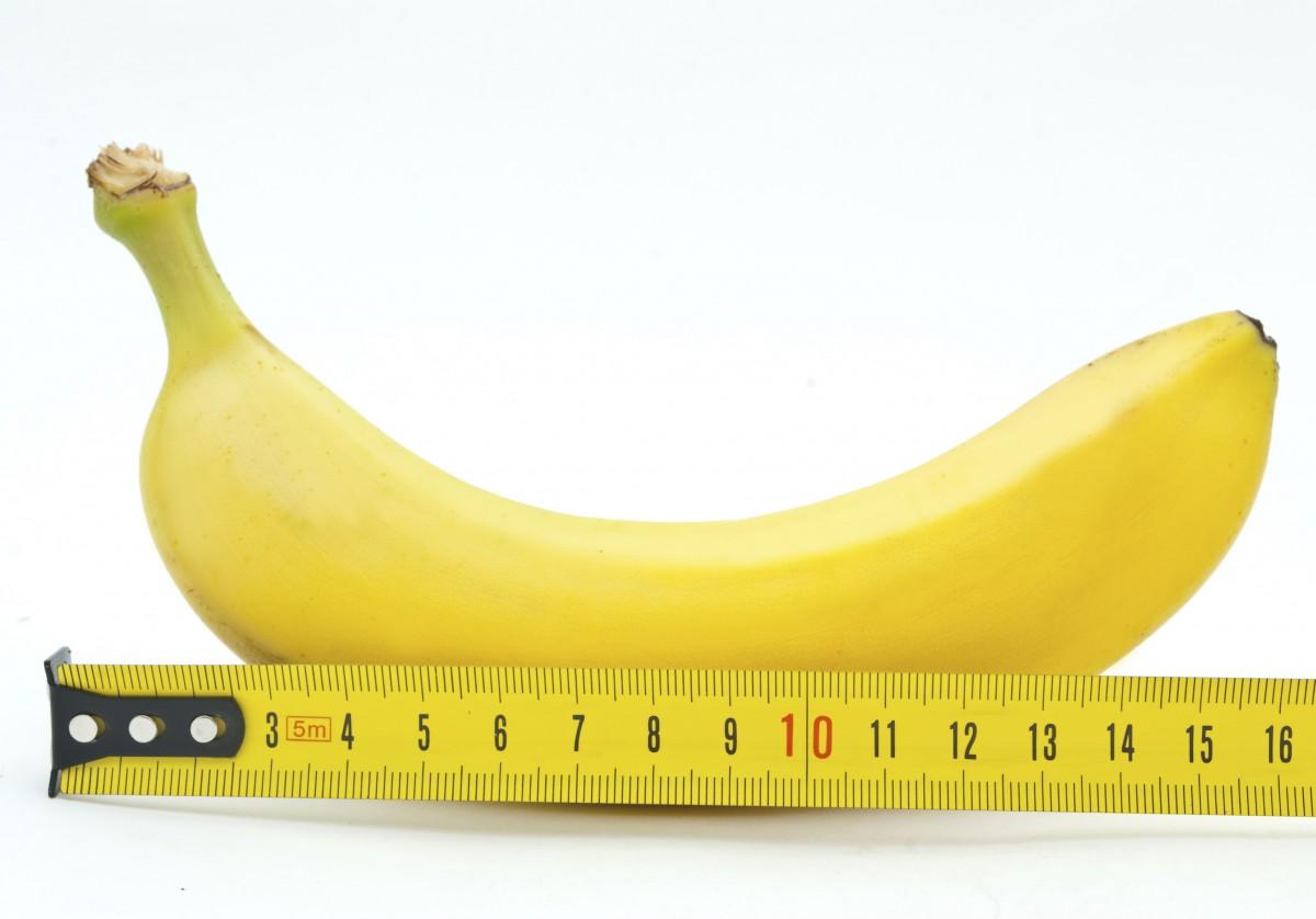 Измерение длины банана