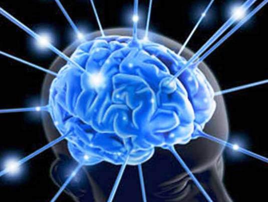 Синий мозг с лучами