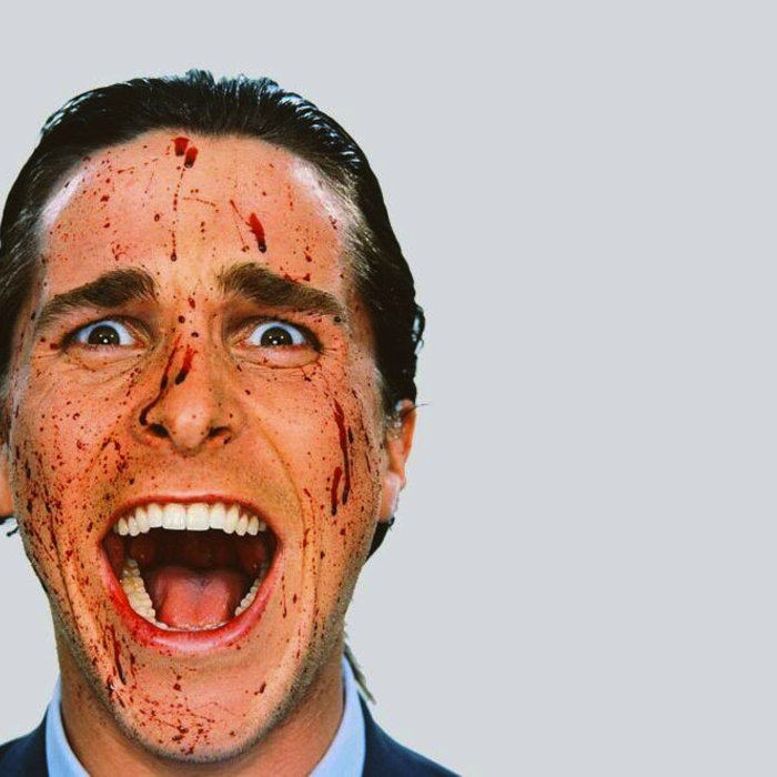 Лицо в брызгах крови