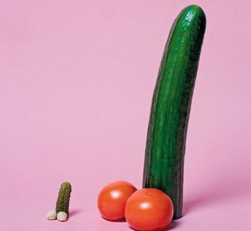 Огурцы и помидоры в форме пенисов